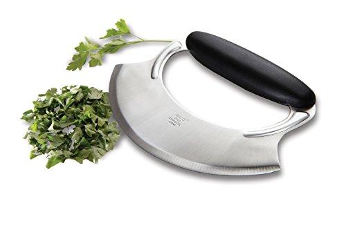 Amco Stainless Steel Mezzaluna Knife