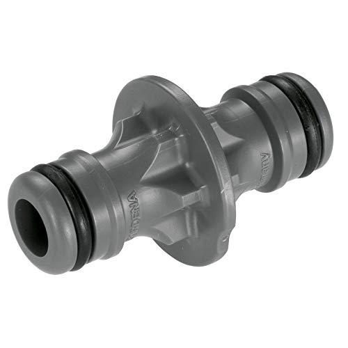 Gardena Kupplung: Verbindungsteil zur sicheren Schlauchverbindung, Verbindung zweier Schläuche zur Verlängerung, zum Übergang von 19 mm (3/4)- auf 13 mm (1/2)-Schläuche, verpackt (2931-20)