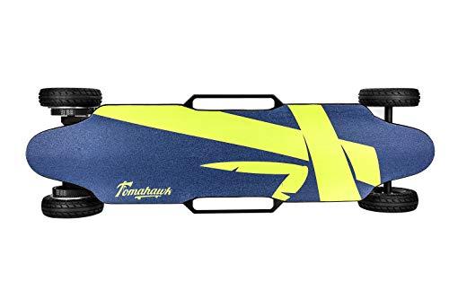 Skateboard electrico Off Road Tomahawk Hatchet. Longboard electrico de Madera con Lija...