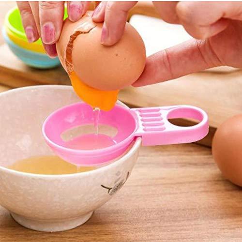 Onsinic 3Pcs zufällige Farbe Ei-Separator-Weiß Yolk Sifting Home Küche Chef Essen Kochen Gadget