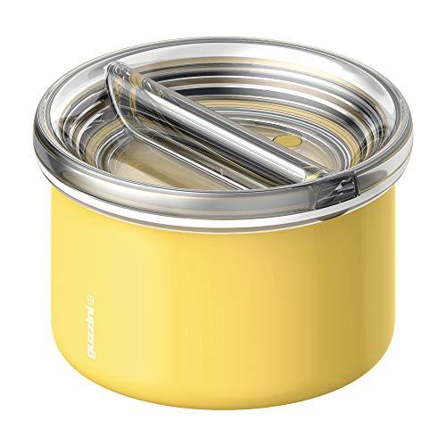 Guzzini Energy On The Go Lunch Box Termico, Poliestere Copolimero, Polipropilene, Stainless Steel, Giallo, 13.7 cm
