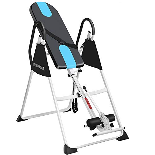 Read About Indoor Fitness Exercise - Household Gravity Fitness Inversion Table Adjustable Folding Ba...