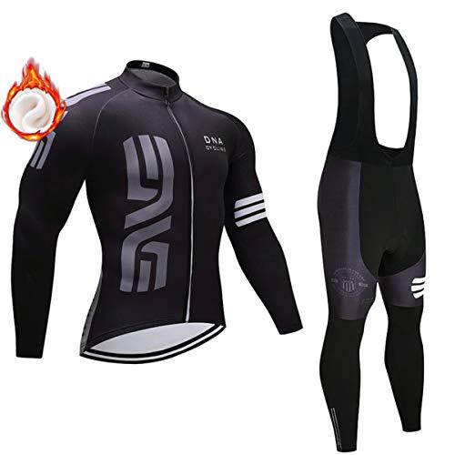 Pro Team Thermal Fleece Bicycle Wear Ropa de Ciclismo de Manga Larga,...