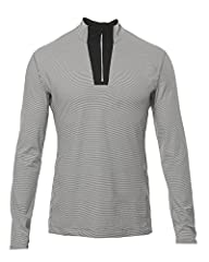SPRING TRAINING: Lightweight 1/4 zip pullover is tailored fit, micro-stripe fabric with mesh panels, auto-lock zip mock neck & stash pocket with headphone portal. Ideal for running, golf, or the gym. BY ATHLETES, FOR ATHLETES: Optimal marriage of com...