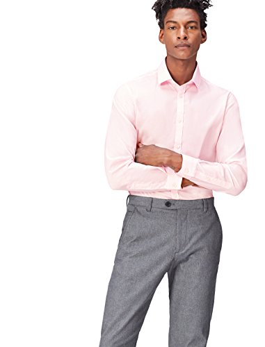 find. Hemd Herren aus Baumwolle mit New-Kent-Kragen, Rosa (Soft Pink), Medium