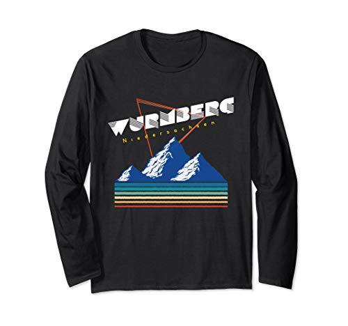 Wurmberg Niedersachsen - Deutschland Retro 80s Ski Geschenk Langarmshirt