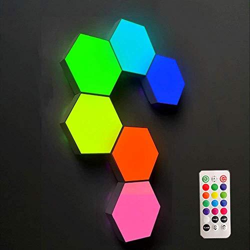 W.KING Modulare Wandlampe,Touch Sensitive Wandlampe,3W LED Panels Leselampen,Dekoratives Wandlichter Leseleuchte,Weiß DIY Wandbeleuchtung,6 Piece