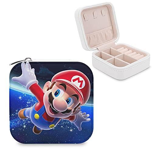 Mario Galaxy Joyero de piel sintética, portátil, para collar, pendientes, pulseras, anillos, relojes, expositores, cajas de joyería para mujeres