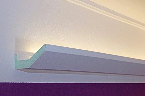 LED Profil Stuckleiste für indirekte Beleuchtung der Decke - Lichtvouten aus Hartschaum 90x50mm DBML-90-PR von BENDU
