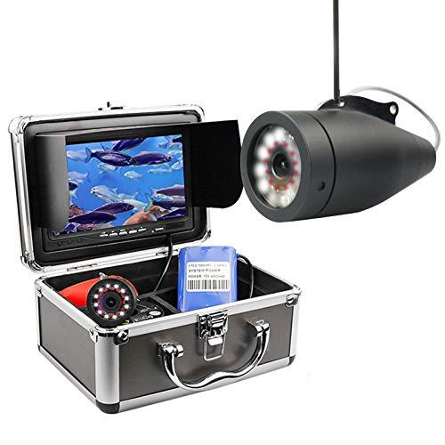 XWEM Caméra Fish Finder Portable, Caméra sous-Marine Pêche HD1080P Étanche IP68 avec 30M / 100Ft Câble pour La Glace, Lac, Bateau, Pêche en Mer (NO DVR)
