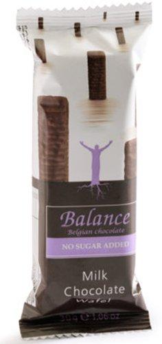 Balance Waffeln mit Michschokolade, Ohne Zuckerzusatz, 12er Pack (12 x 30 g)