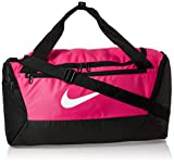 Nike Unisex's Brasilia - 9.0 Duffel Bag (small), Rush Pink/Black/White, One size