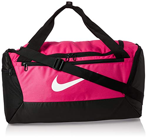 Nike NK BRSLA S Duff-9.0 (41L) Sac de Gym Mixte Adulte, Rose (Rush Pink/Black/White), 51 Centimeters