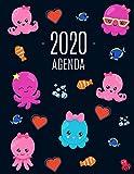 Pulpo Agenda 2020: Planificador Semanal   52 Semanas Enero a Diciembre 2020
