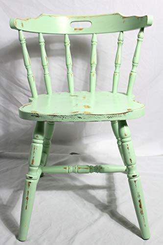 Shabby Stuhl alter Armlehnenstuhl/Sprossenstuhl/Holzstuhl/Küchenstuhl salbei grün 60er Jahre Vintage Möbel Shabby Chic Möbel Landhaus Country