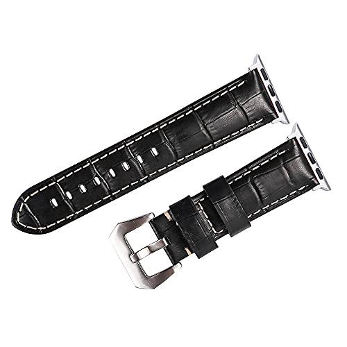 Reloj de bolsillo Mire la correa de la banda compatible con la serie de Apple Watch, 24/6/4/3/2/1 Bandas de pulsera 42mm 38mm 44mm 40mm correa de reloj de cuero para ver la correa de muñeca de cuero m