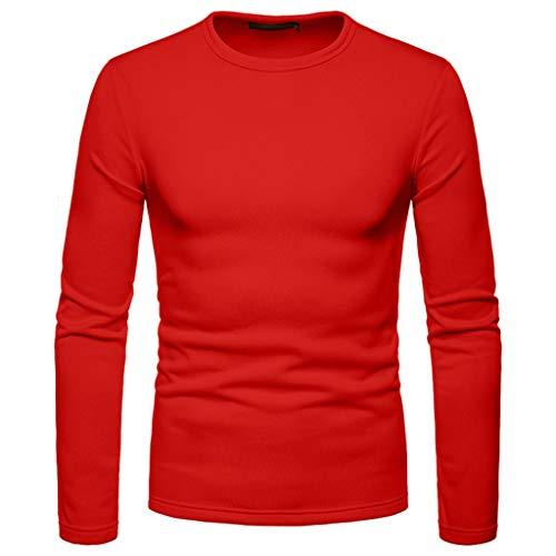 Camiseta de manga larga para hombre, diseño de Navidad, incluye 1 camisa roja, 5 piezas no tejidas, 6 bolas de pelo pequeñas, 1 paquete de material de Navidad + 2 cintas