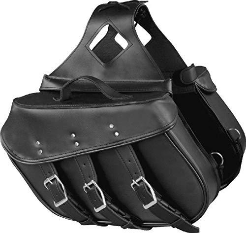 Shaf International SH55101ZB Black Three Straps PVC Bag