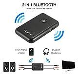 Kreema 2in1 Bluetooth V4.2 Trasmettitore Ricevitore Long Distance Wireless HiFi Toslink/SPDIF 3.5mm Jack APTX per Home Stereo Audio System