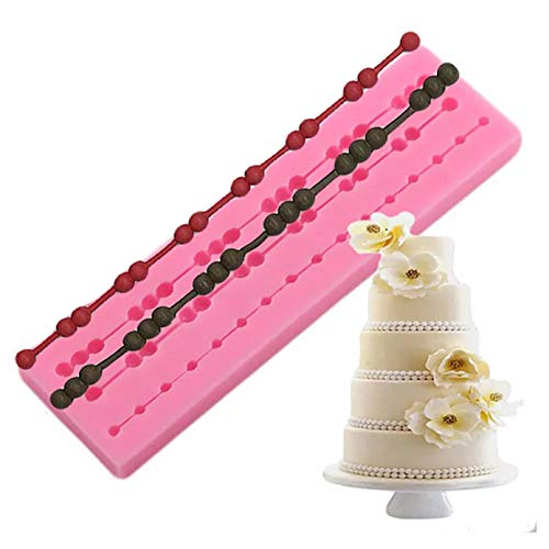 FGHHT Chain Hemp Rope Cake Border Silicone Mold Birthday Cake Decorating Tools Cupcake Topper Fondant Mold Candy Chocolate Mould