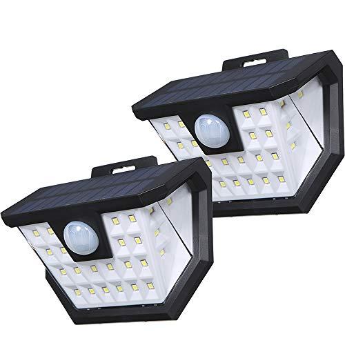 Luz Solar Exterior,Tomshine 2 Pack 2x28 LED Focos Led Exterior Solares con Sensor de Movimientos PIR...