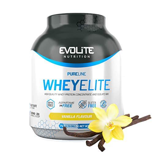Evolite Nutrition WheyElite 2270g - Proteina Whey - Crear Batidos Para Adelgazar - Proteinas Para Aumentar Masa Muscular - Proteina Isolada (vainilla)