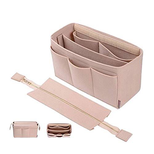 Luluspace Taschen Organisator Filz für Frauen Handtaschen, Filz Taschenorganizer Bag in Bag Handtaschenordner Organizer für Handtaschen (Beige, L)