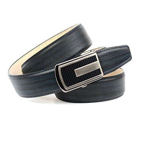 Anthoni Crown Ledergürtel Cintura, Dunk E L Blau, 105 Uomo
