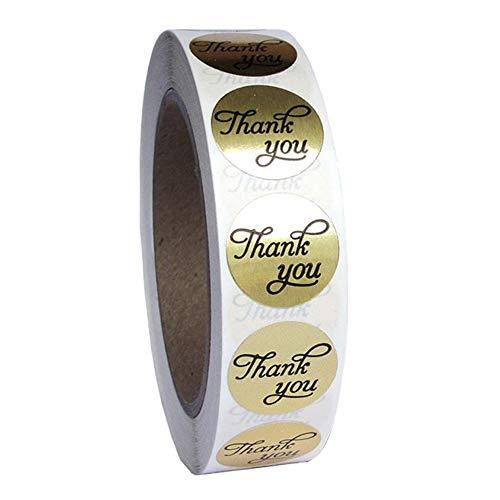 SUNERLORY Aufkleber Mini Label Adhesive Craft tragbare handgemachte lle Party DIY Hochzeit Danke Dekoration Runde Folie(Gold)
