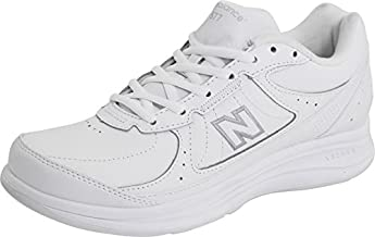 New Balance Women's 577 V1 Lace-Up Walking Shoe, White/White, 8 M US