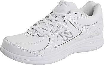 New Balance Women's 577 V1 Lace-Up Walking Shoe, White/White, 8 M US