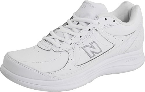 New Balance Women's 577 V1 Lace-Up Walking Shoe, White/White, 9 XW US