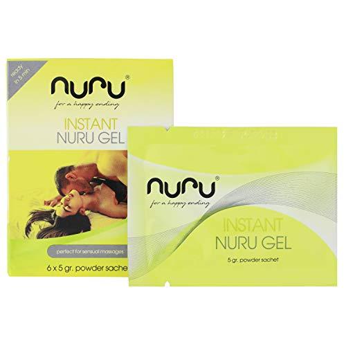 Nuru® polvo, gel de masaje, 1 caja (6 sobres x 5gr) 1 sobre = 250ml Nuru Gel