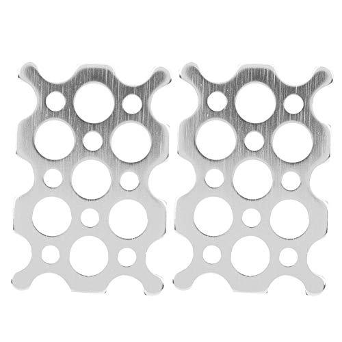 Lochplatte - 2 Stück 2x3 Lochplatte 7005 Aluminiumplatte 8,1 mm 3,8 mm Lochdurchmesser Passend für TETRIX PRIME