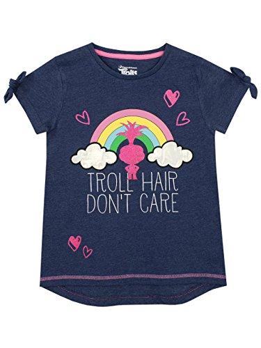TROLLS Camiseta para Niñas Poppy Azul 8-9 Años