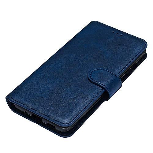 HAOYE Hülle für LG K41S / LG K51S Hülle, Handyhülle LG K41S / LG K51S Flip Hülle Brieftasche Schutzhülle, Premium Leder mit Ständer Funktion und Kartenfach und Magnetic Snap Cover, Blau