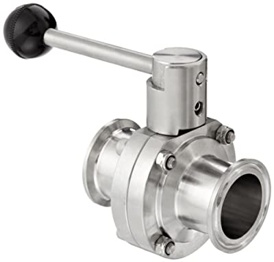 "Dixon B5101V150CC-A Stainless Steel 316L Butterfly Valve with Pull Handle and Viton Seal, 1-1/2"" Tube OD from Dixon Valve & Coupling"
