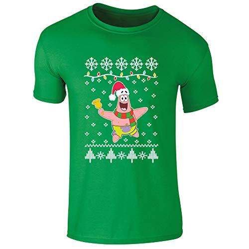 Nickelodeon Spongebob Schwammkopf Patrick Star Carol Singing Christmas Xmas Kinder T-Shirt Gr. 3-4 Jahre, grün