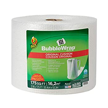 Duck Brand Bubble Wrap Roll Original Bubble Cushioning 12  x 175  Perforated Every 12   286891