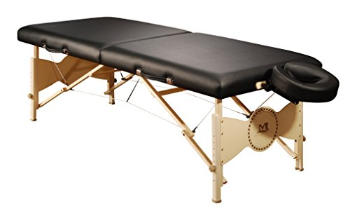 Mt Massage Table Midas 30 Inch Portable SPA Therapy Best Beauty Body Couch Bed Table Package, Black