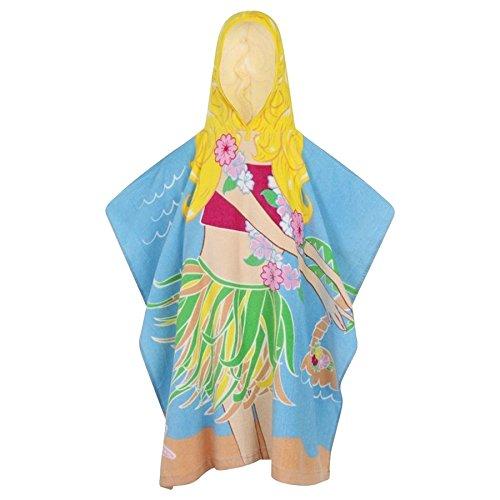 A2Z 4 Kids® Kids Jongens Meisjes Ontwerper Novelty Character Hooded Handdoeken Zwembad Strand Bad Tiger Hula Spider Angel Piraat Handdoek Poncho Een Maat