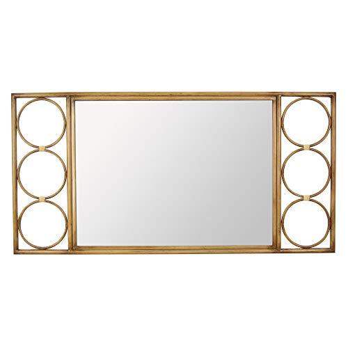 Plutus Brands Decoración de espejo de metal marrón