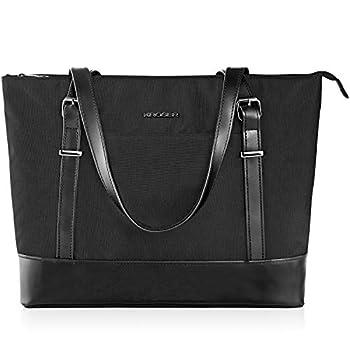 KROSER Laptop Tote bag 15.6 Inch Large Shoulder Bag Lightweight with USB Charging Port Water-repellent Nylon Computer Tote Bag Women Stylish Handbag