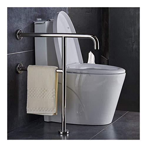 HTLLT Useful Safety Support Hand Rails, U-Shaped Floor Toilet Grab Bar, Wall Mounted Support Rail Elderly Handicap Bathroom Bathtub Safety Handrail Pregnant Woman Assist in Sta