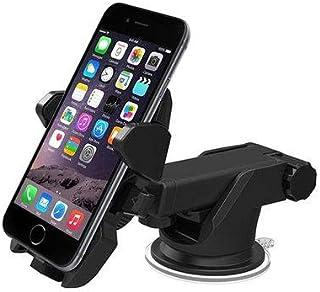 من السهل لمسة واحدة 2 العالمي سيارة جبل حامل للهواتف الذكية اي فون X سامسونج S8 ملاحظة 8 هواوي أونيبلوس - أسود