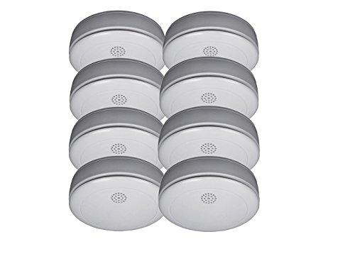 8er SET Rauchmelder mit 10 Jahres Batterie – Stummschaltfunktion - VdS Zertifiziert & Q-Siegel...