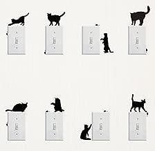 Wall Sticker, 8 pcs Cute Cat Design Light Switch Decor Decals Wall Stickers (Cat)