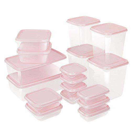 ZOEON Juegos de Recipientes para Alimentos, Apta para Lavavajillas y Microondas, Recipientes para Cereales Sin BPA, Set de 17
