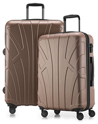 Suitline - 2er Koffer-Set Trolley-Set Rollkoffer Hartschalen-Koffer Reisekoffer, TSA, (66 cm, 76 cm), 100% ABS, Matt