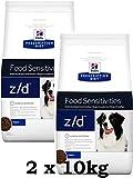 Pienso para perros Hill's Prescription Diet z/d libre de alérgenos, 2 unidades de 10 kg (20 kg en to...